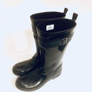 SPERRY RAIN BOOTS SIZE 8.5 BLACK